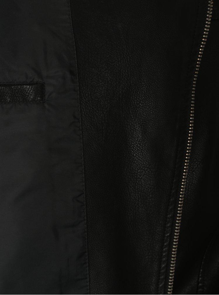 Černý koženkový křivák ONLY & SONS Karter