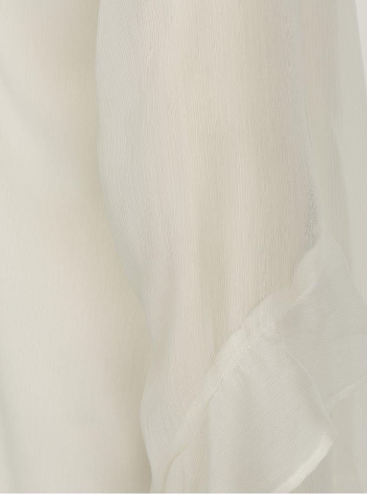 Krémová blúzka s priesvitnými rukávmi VERO MODA Ava