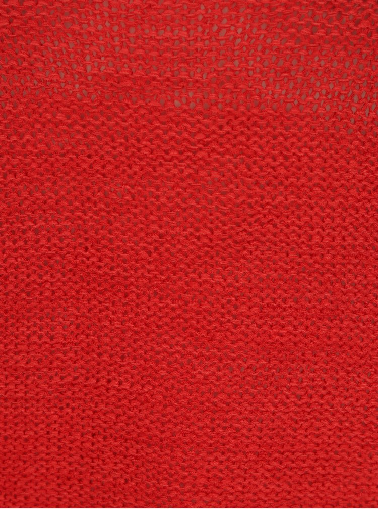 Červený pletený svetr ONLY Geena