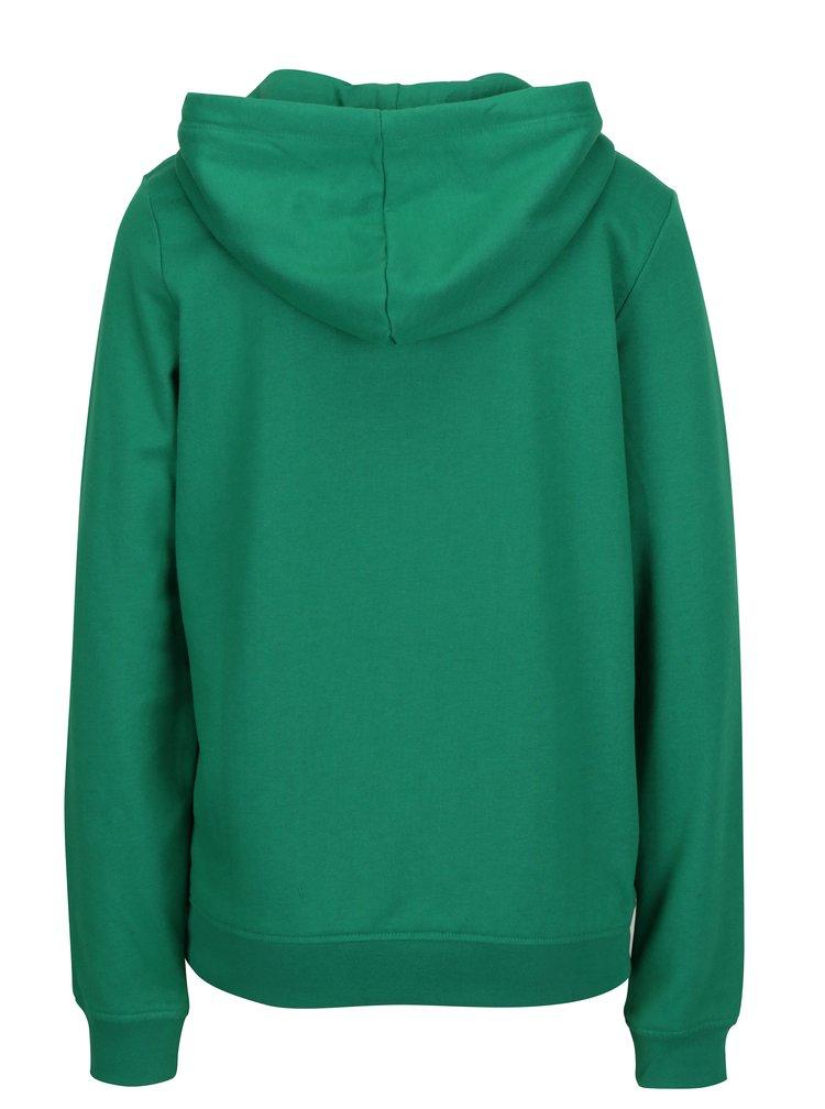 Zelená basic mikina s kapucí VERO MODA Gina