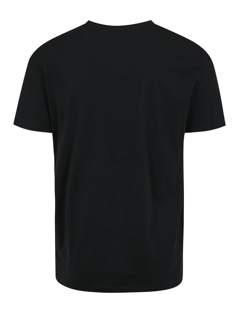 Černé tričko s potiskem Jack & Jones Snoop