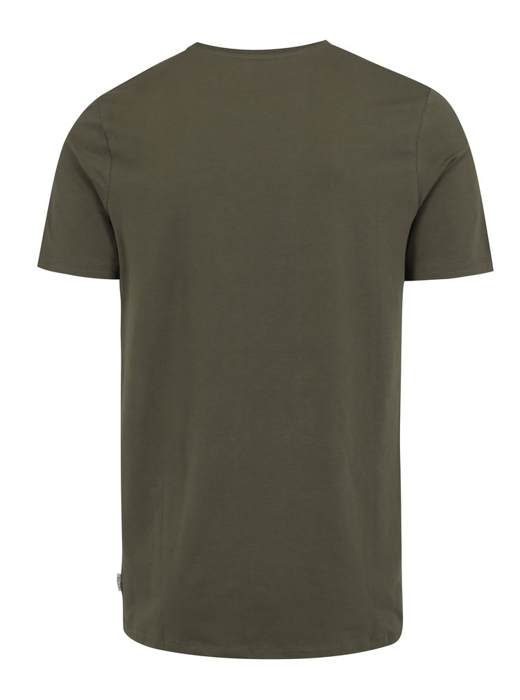 Khaki tričko s potiskem Jack & Jones Bass