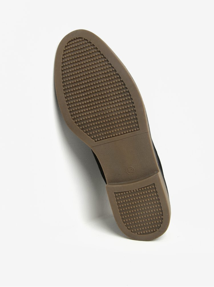 Černé kotníkové boty v semišové úpravě Burton Menswear London