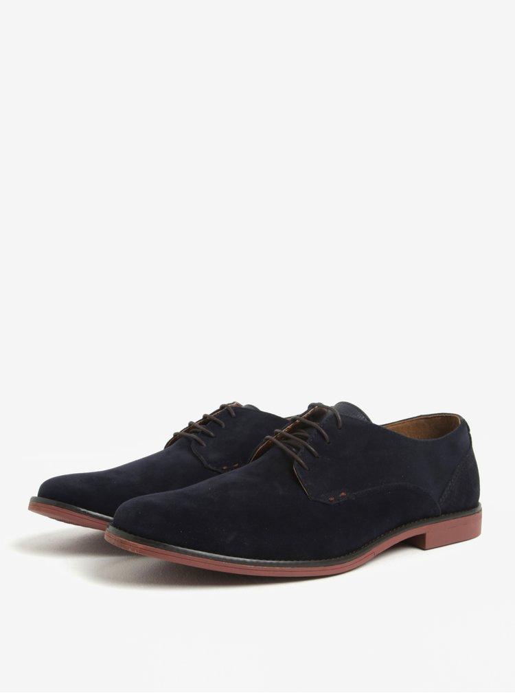Pantofi albastri cu aspect de piele intoarsa Burton Menswear London