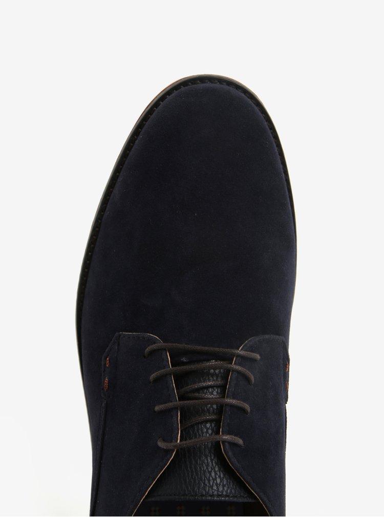Tmavě modré pánské polobotky v semišové úpravě Burton Menswear London