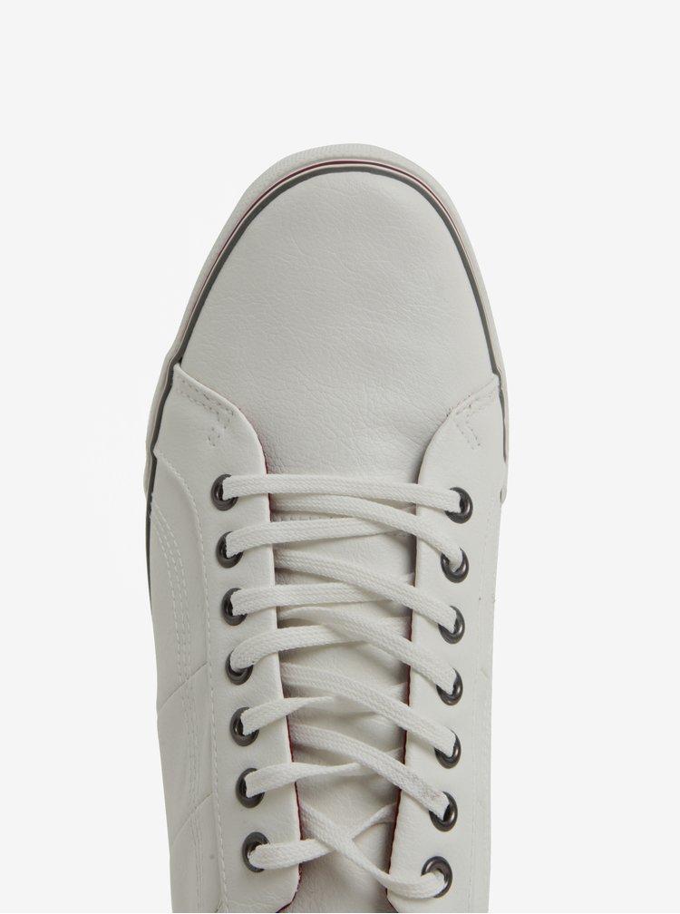 Krémové koženkové tenisky Burton Menswear London