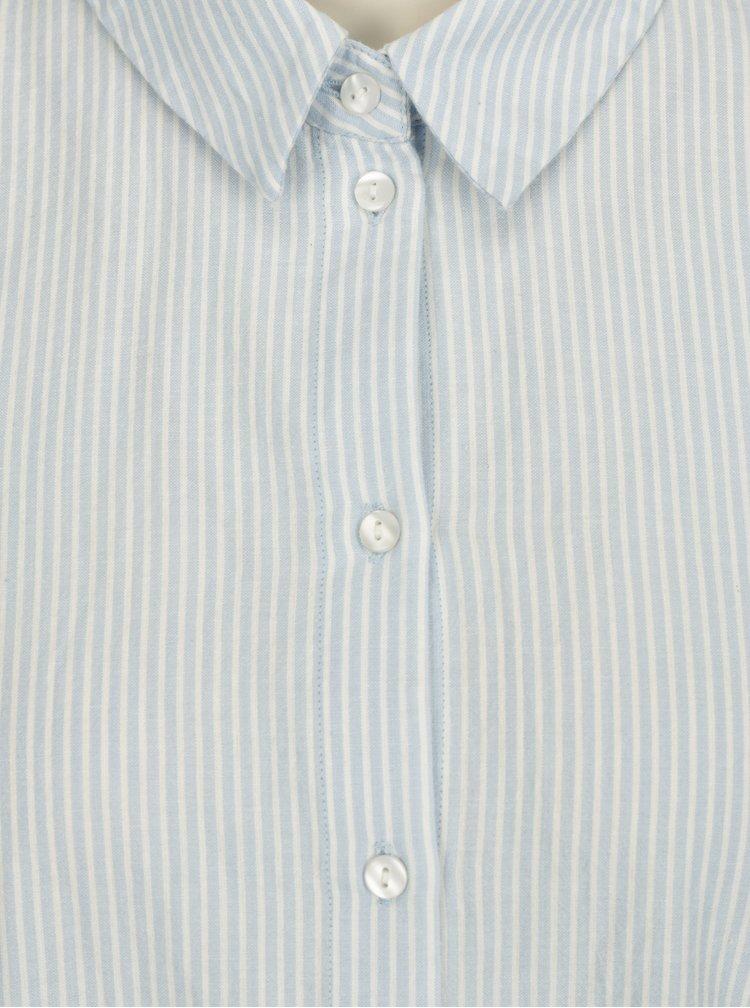 Světle modrá pruhovaná košile VERO MODA Kate