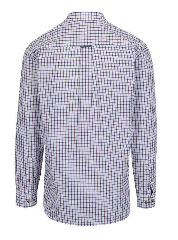 Krémová kostkovaná košile Raging Bull