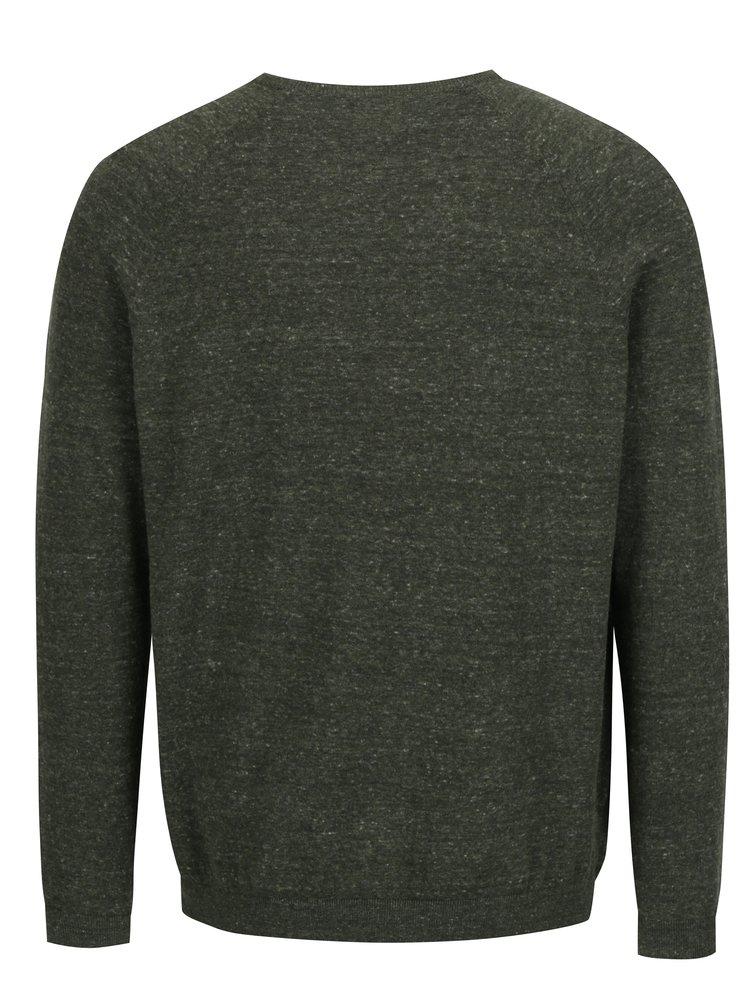 Khaki žíhaný svetr Burton Menswear London