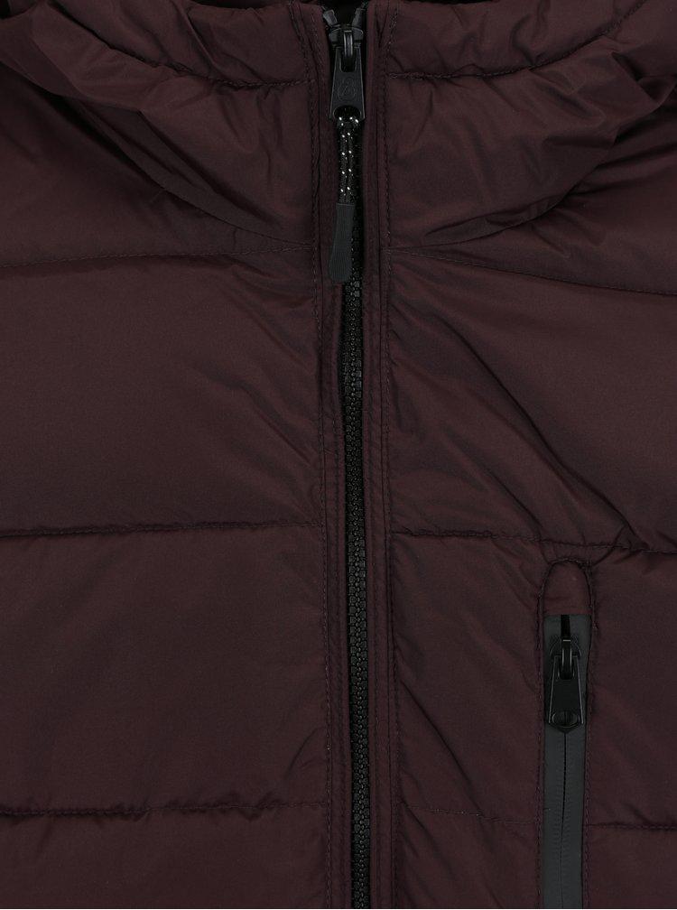 Vínová zimní prošívaná bunda Burton Menswear London