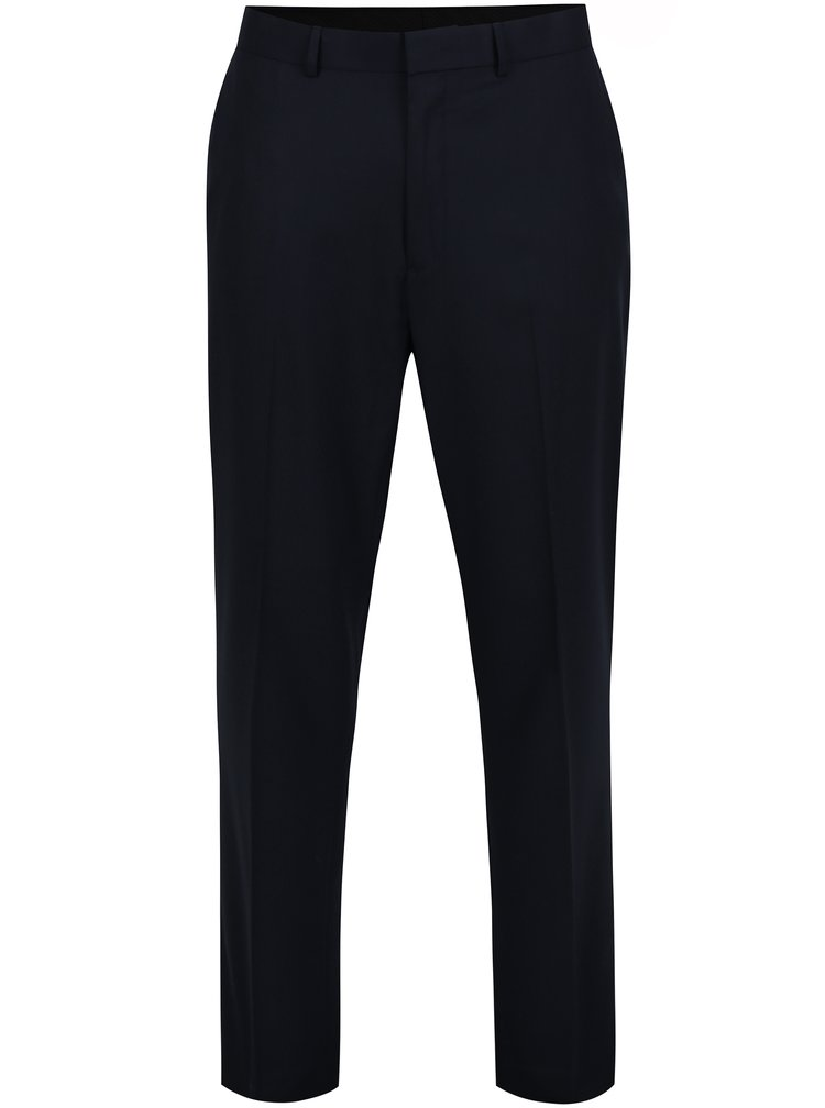 Tmavě modré regular fit kalhoty Burton Menswear London