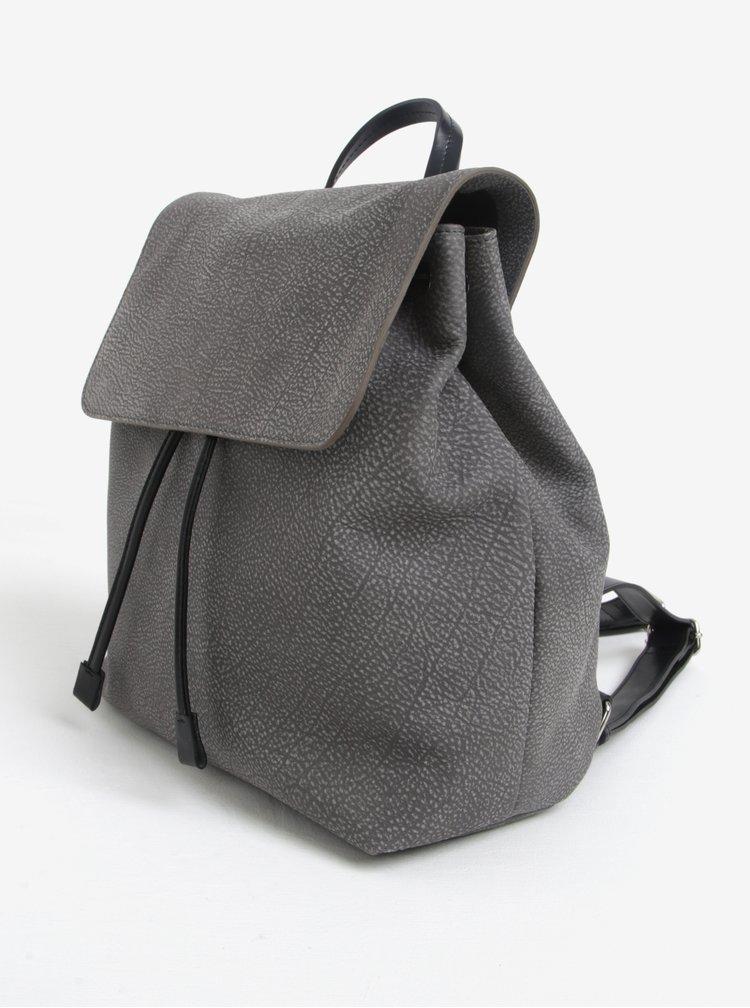 Šedý dámský kožený batoh ELEGA Glitter