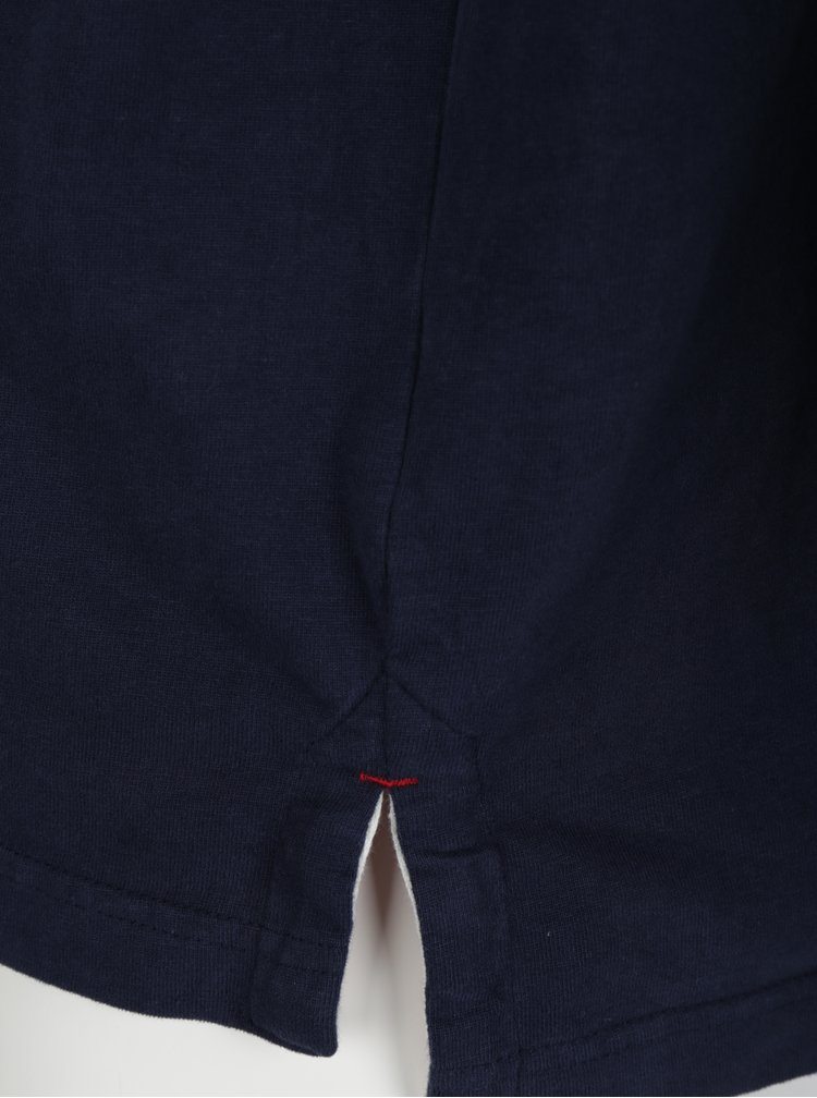 Tmavě modré polo tričko s dlouhým rukávem Raging Bull