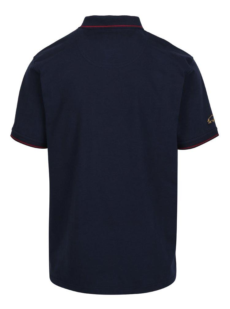 Tmavě modré polo tričko s výšivkami Raging Bull