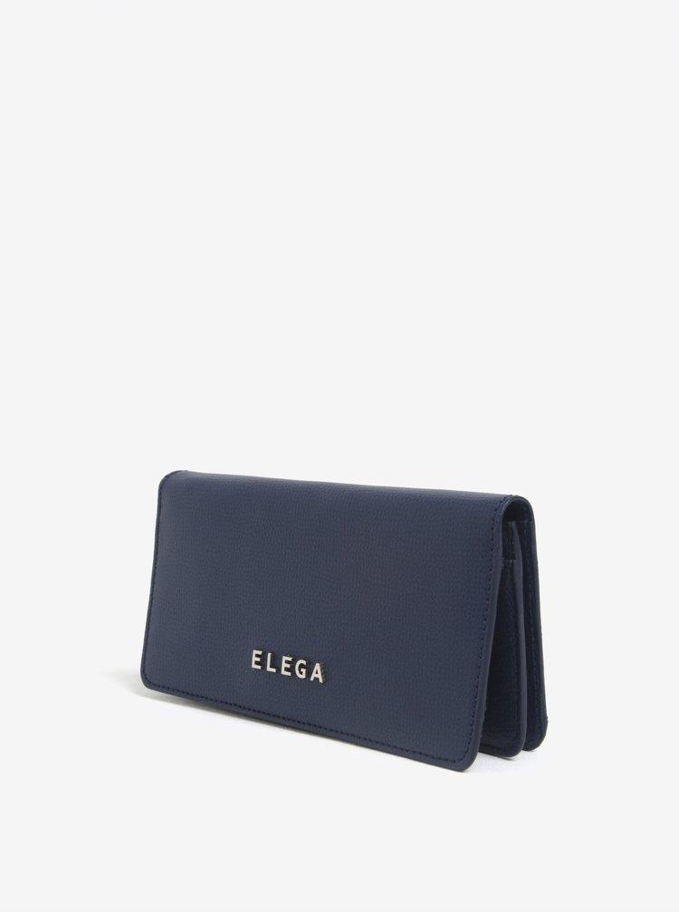 Portofel albastru din piele naturala pentru femei - ELEGA Amina