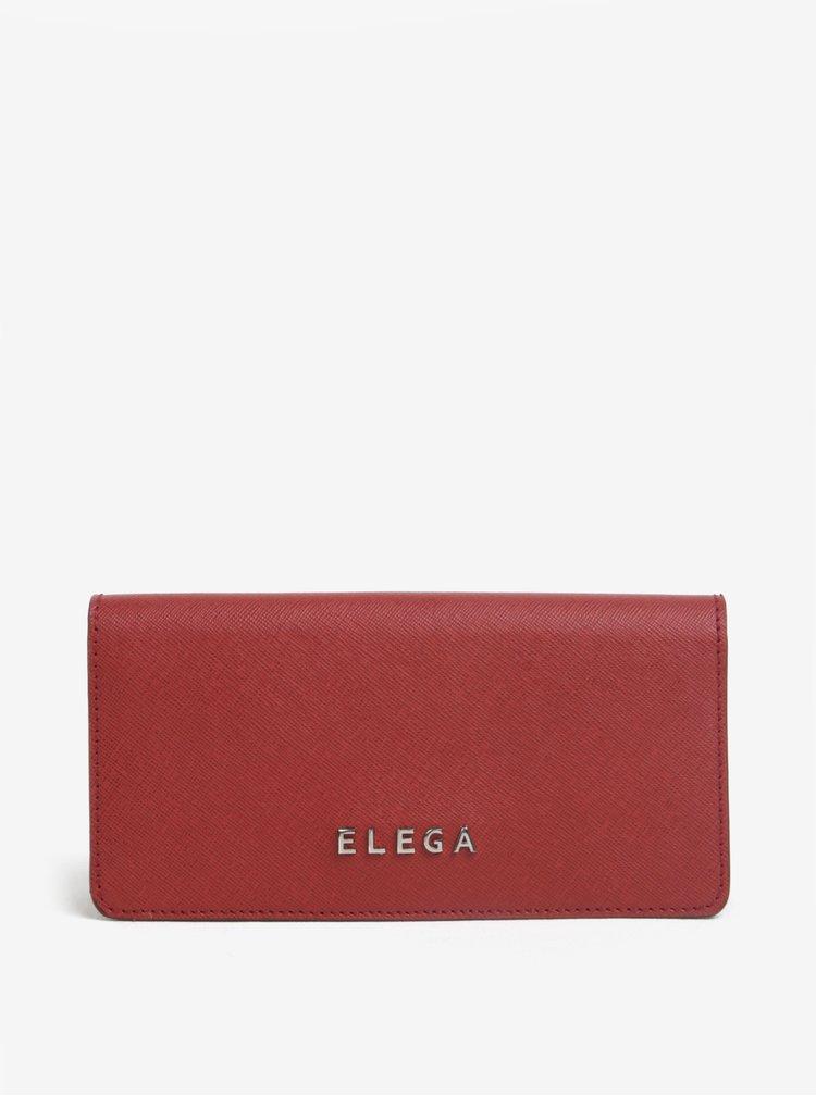 Portofel rosu din piele naturala pentru femei - ELEGA Amina