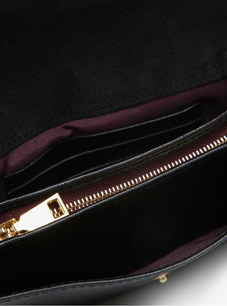 Geanta plic neagra din piele naturala - ELEGA Sherry