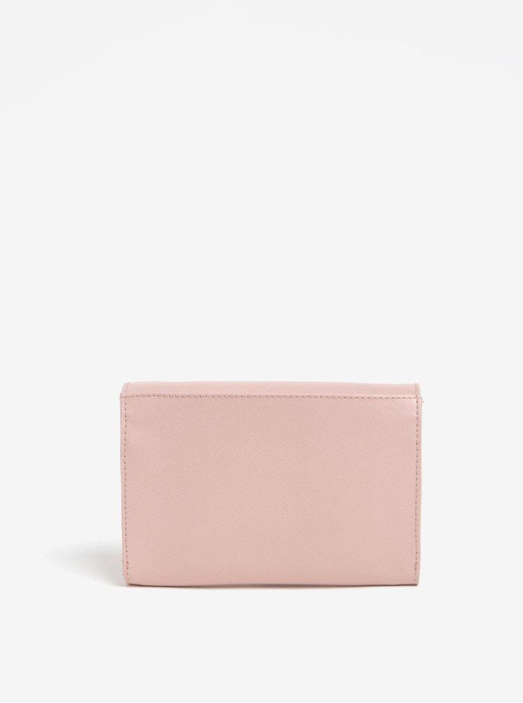 Geanta plic din piele naturala roz deschis -  ELEGA Sherry