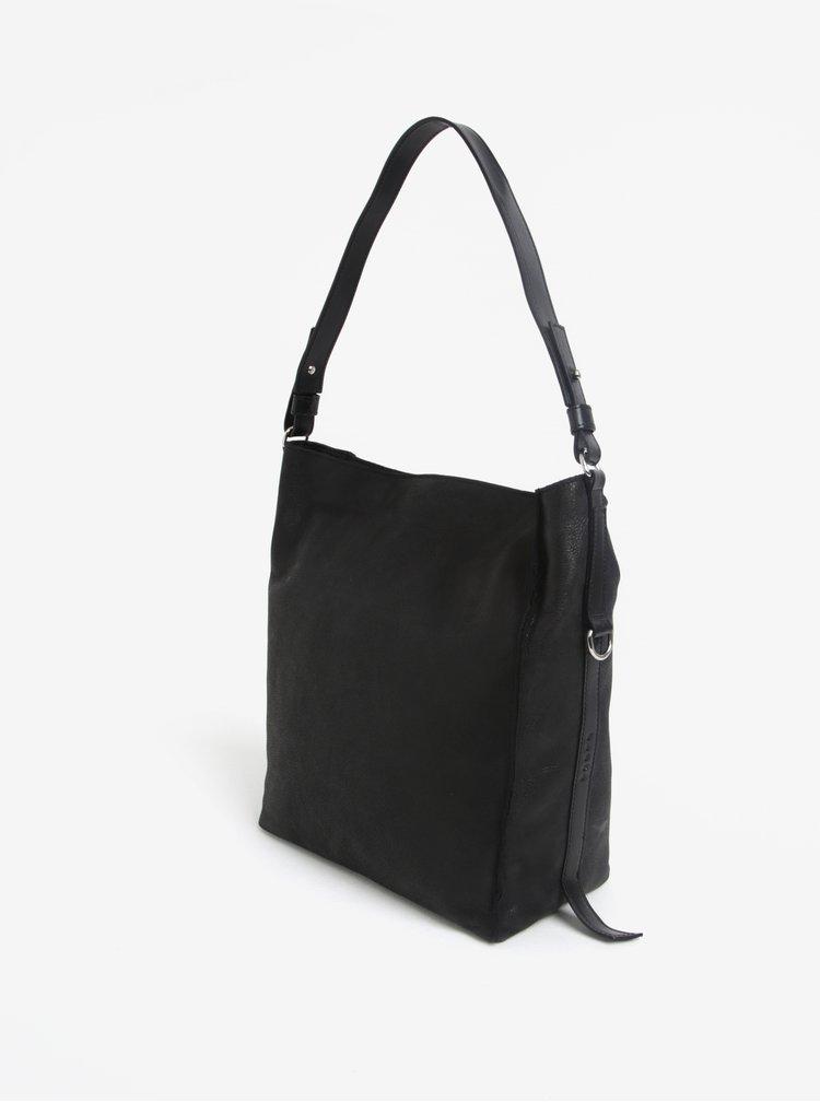 Černá kožená kabelka ELEGA Malý Buffy