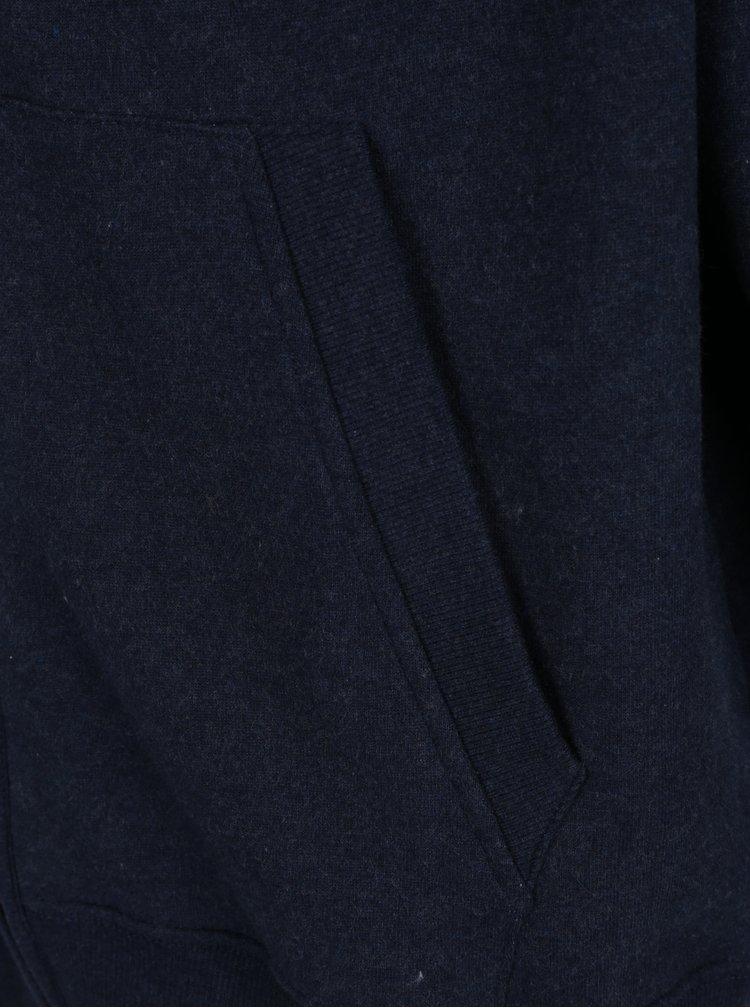 Tmavě modrá mikina na zip s kapucí Raging Bull
