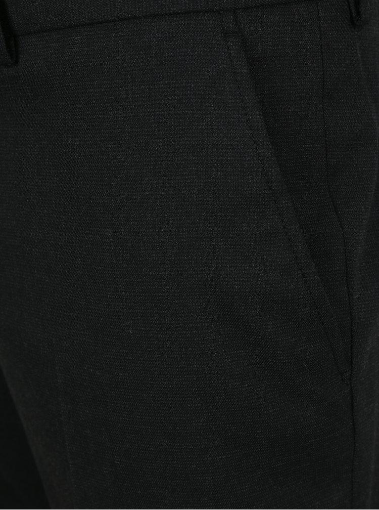 Tmavě šedé kalhoty Selected Homme Slim