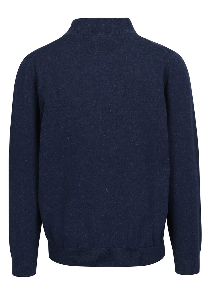 Tmavě modrý žíhaný svetr na zip Raging Bull