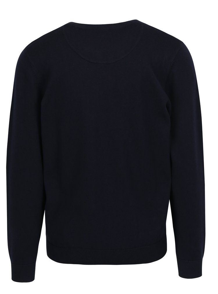 Tmavě modrý svetr s véčkovým výstřihem Raging Bull
