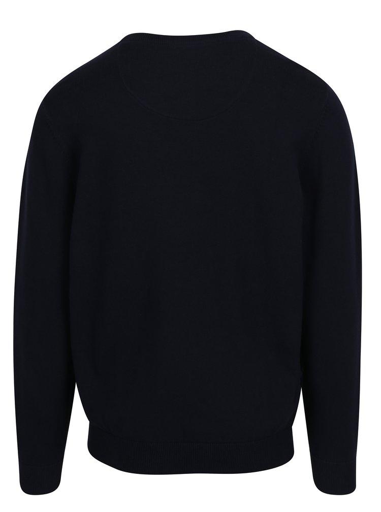 Tmavě modrý svetr s kulatým výstřihem Raging Bull