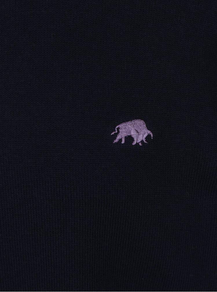 Pulover bleumarin din amestec de casmir  Raging Bull