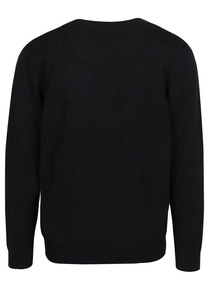 Černý svetr s véčkovým výstřihem Raging Bull