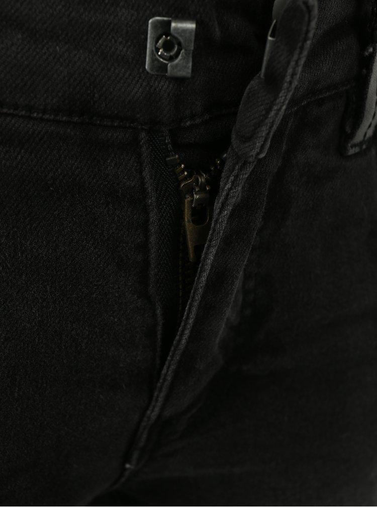 Tmavě šedé klučičí skinny džíny name it Trap