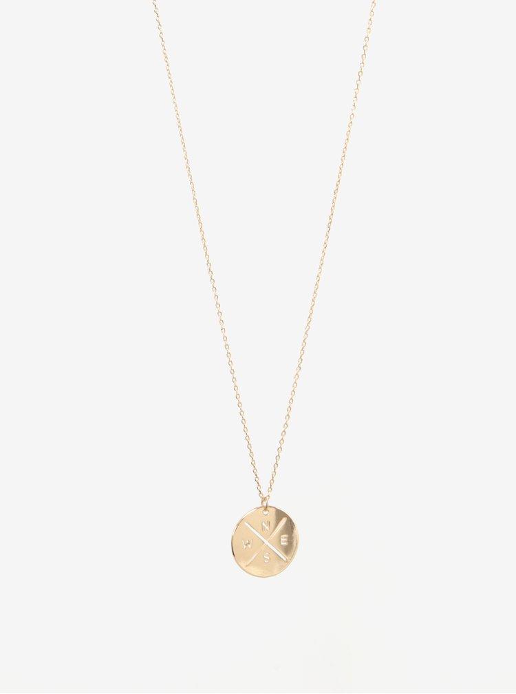 Řetízek s přívěskem ve zlaté barvě Pieces Alina