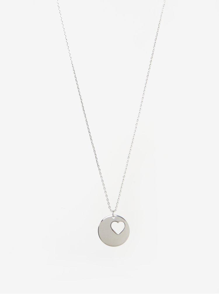 Řetízek s přívěškem ve stříbrné barvě Pieces Alice