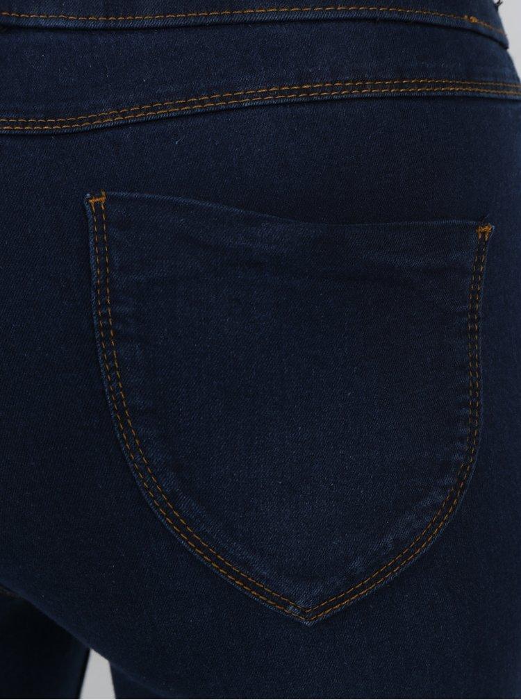 Tmavě modré jeggings s vysokým pasem Dorothy Perkins