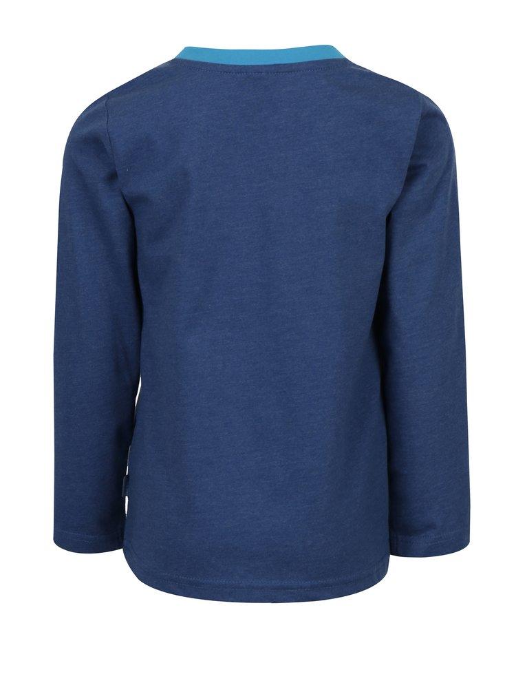 Modré klučičí tričko s dlouhým rukávem a potiskem Venere
