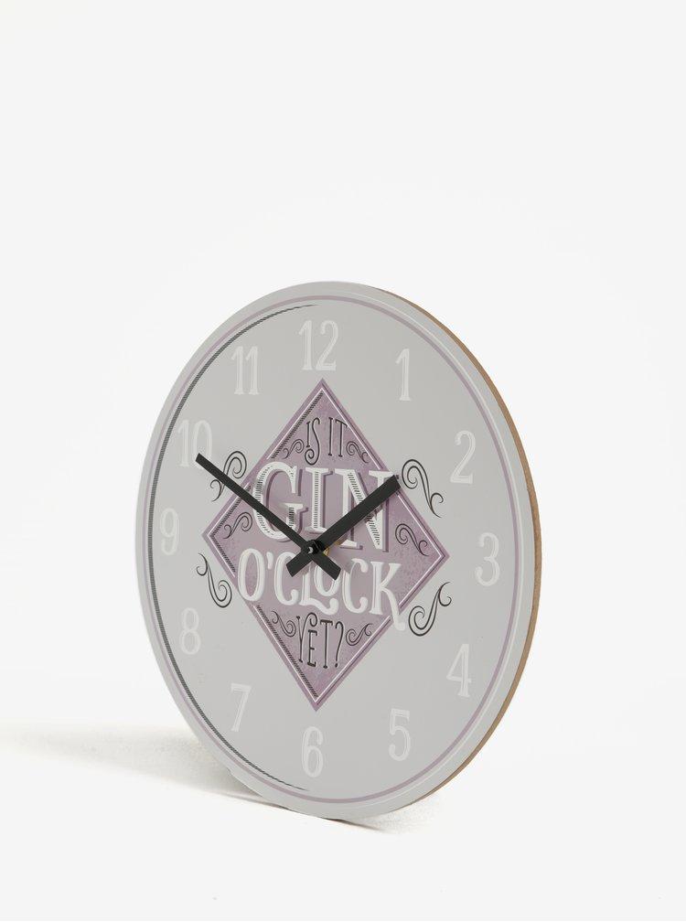 Krémovo-růžové nástěnné hodiny SIFCON GIN 30x30