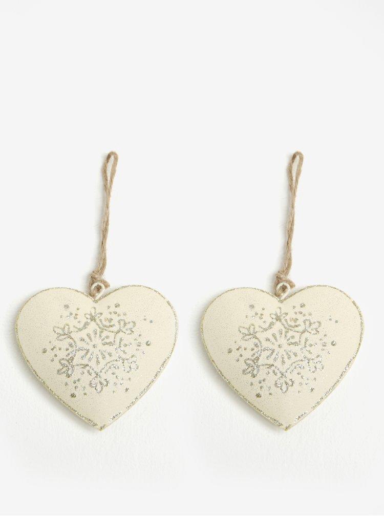 Set de 2 decoratiuni sub forma de inima - Dakls