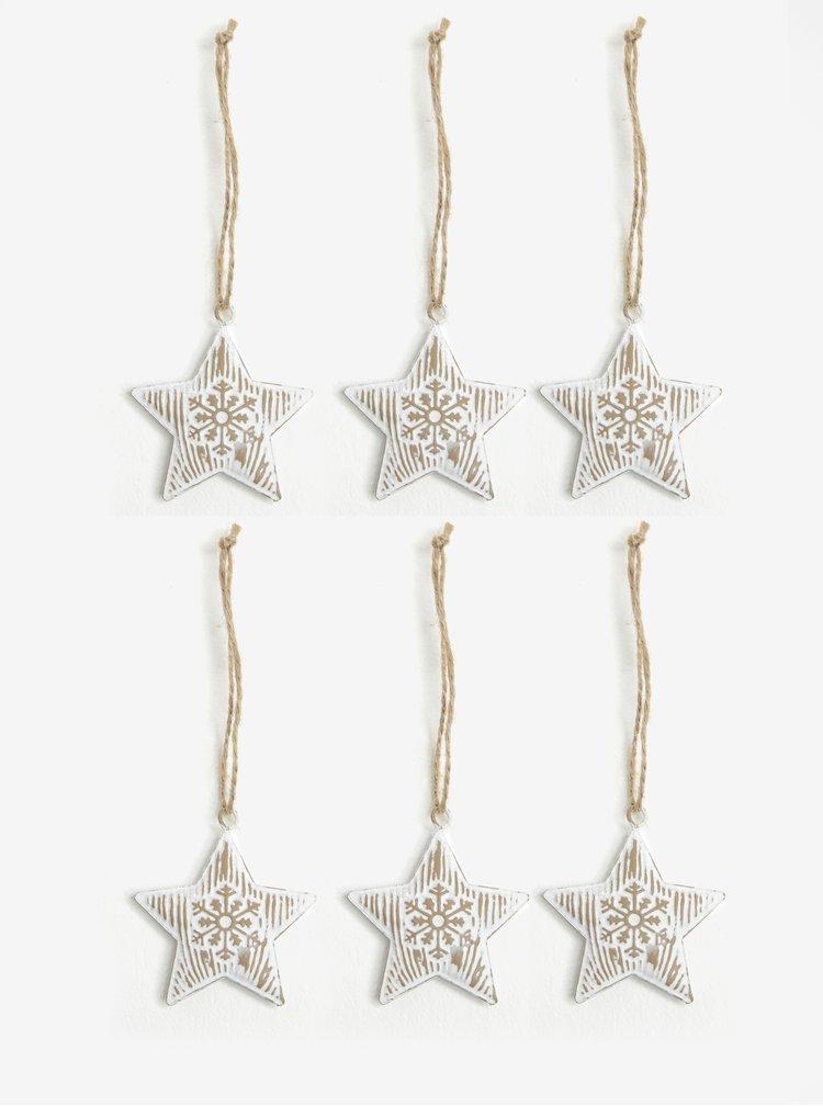 Set de 6 stelute decorative pentru sarbatori Dakls