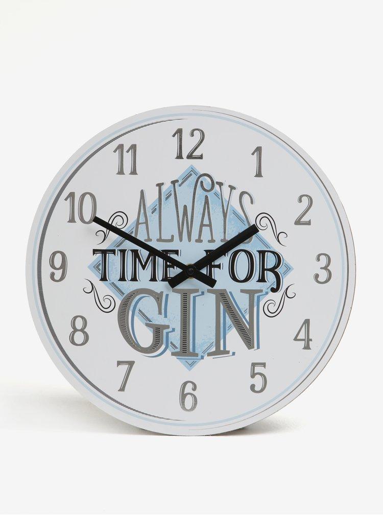 Krémovo-modré nástěnné hodiny SIFCON GIN 30x30