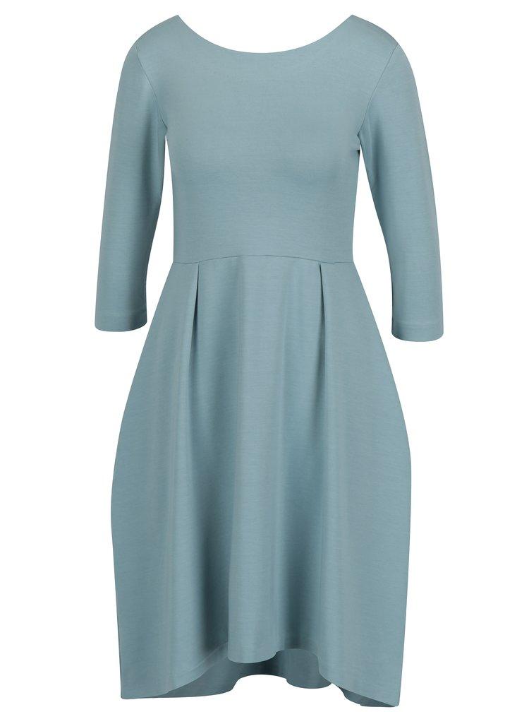 Modré áčkové šaty s 3/4 rukávmi miestni Kla