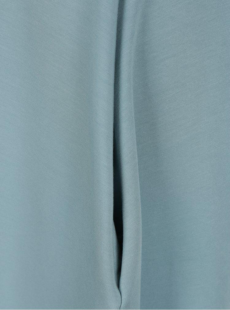 Modré áčkové šaty s 3/4 rukávy miestni Kla