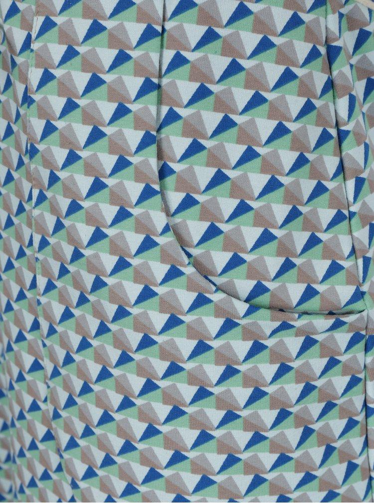 Rochie albastru & verde cu print - Miestni Geo