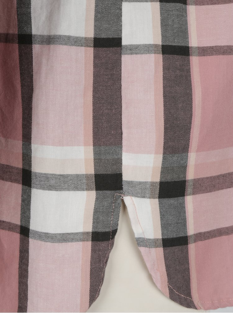 Camasa roz cu carouri si buzunar la piept - Haily´s Paula