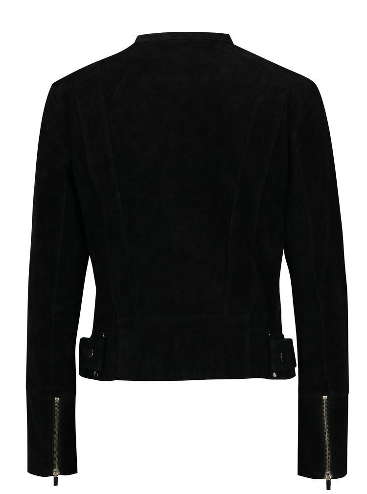 Černá semišová bunda VILA Miss Suede