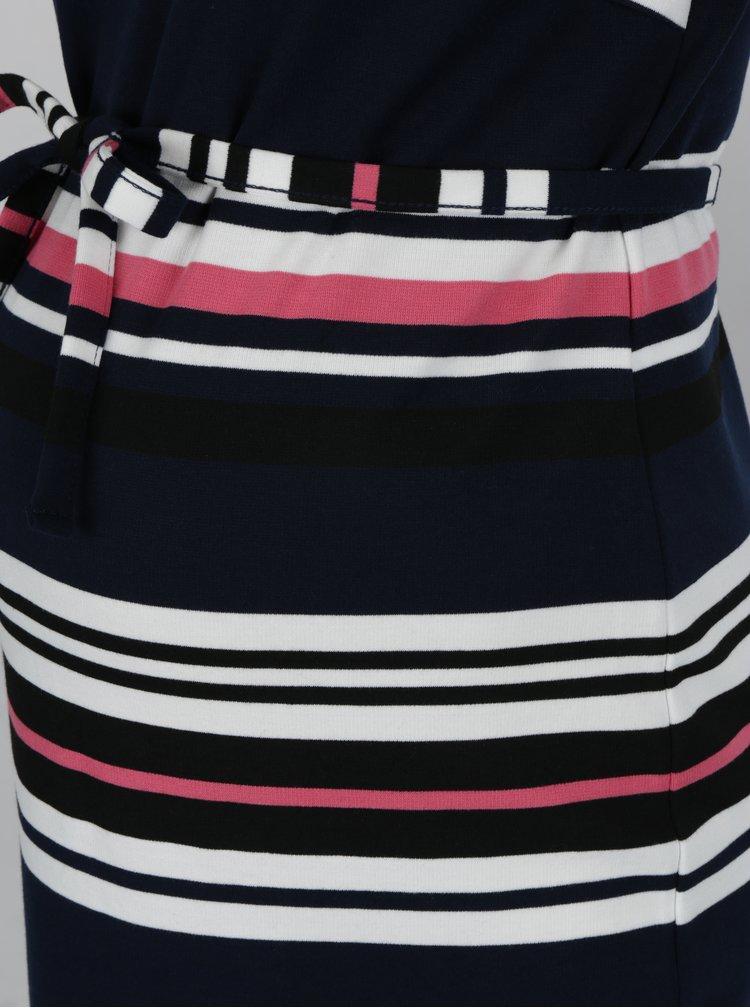 Tmavě modré pruhované těhotenské šaty Mama.licious Dione