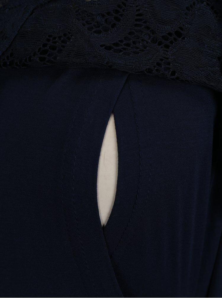 Tmavě modré kojicí šaty s krajkou Mama.licious Blackie