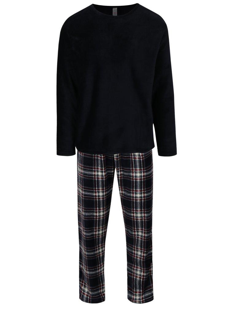 Tmavě modré pánské pyžamo M&Co
