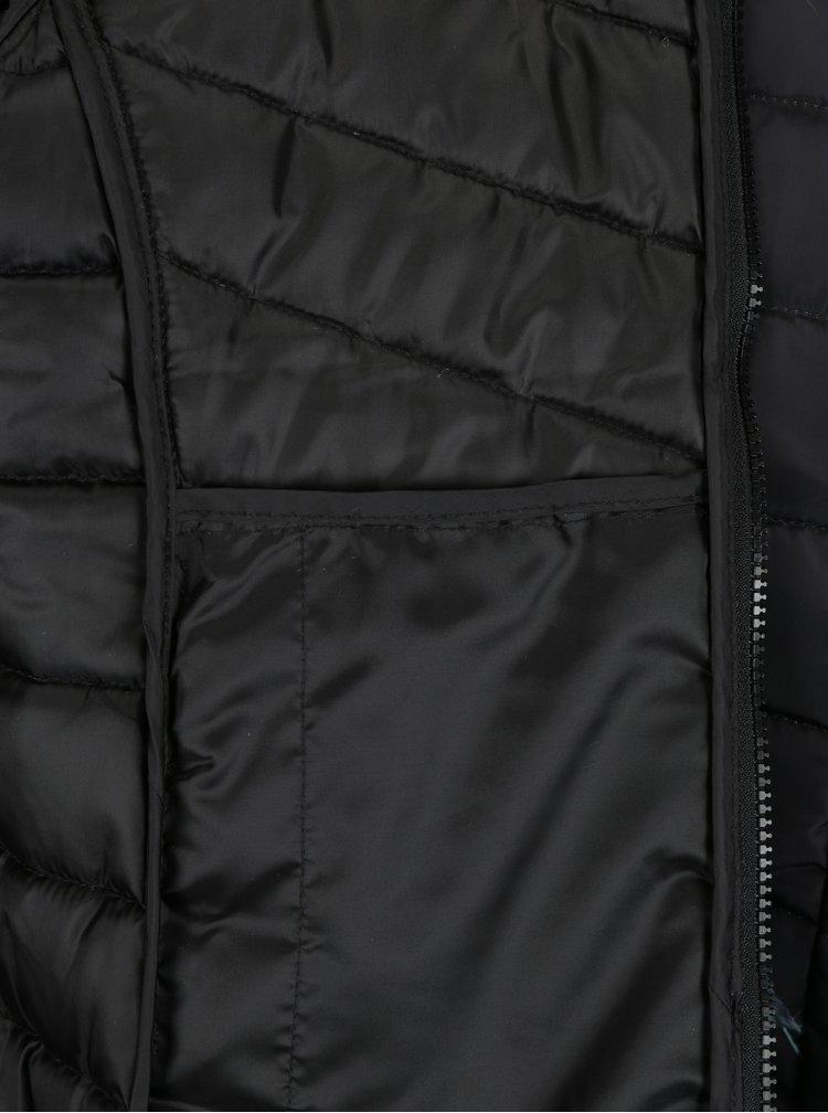Černá květovaná prošívaná bunda s kapucí Jacqueline de Yong