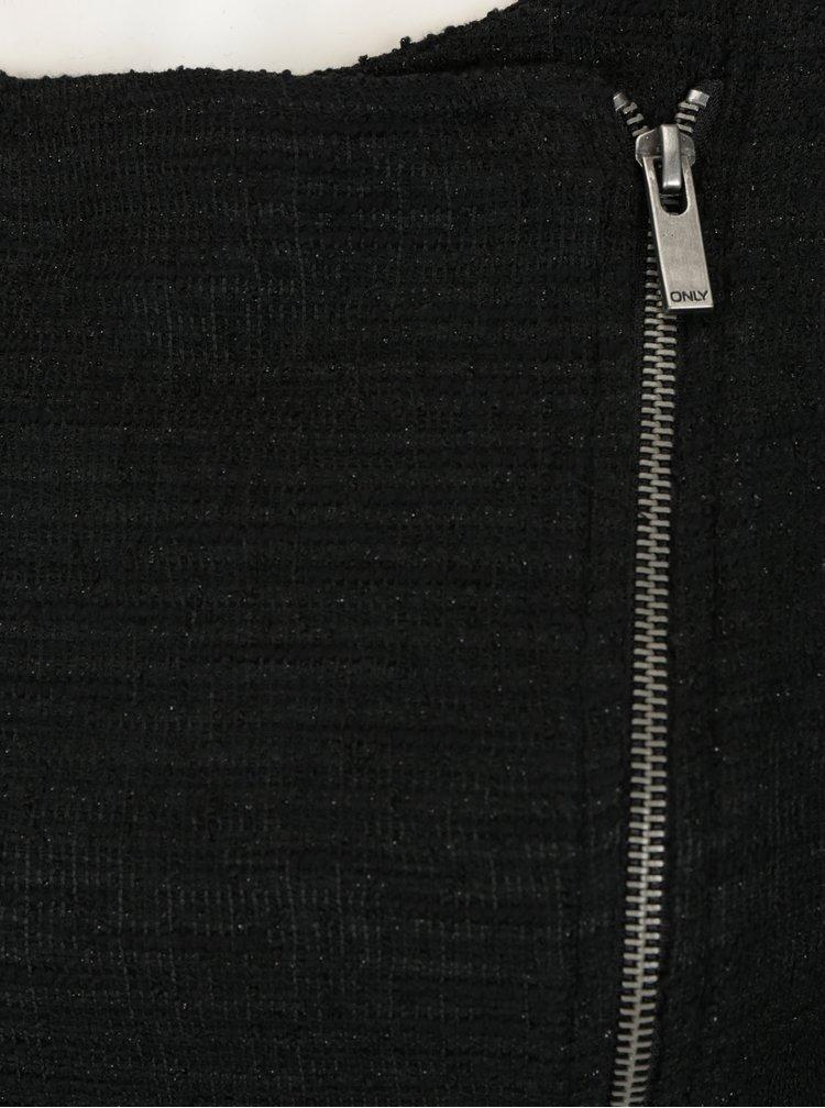 Cardigan negru cu aspect stralucitor ONLY Coco