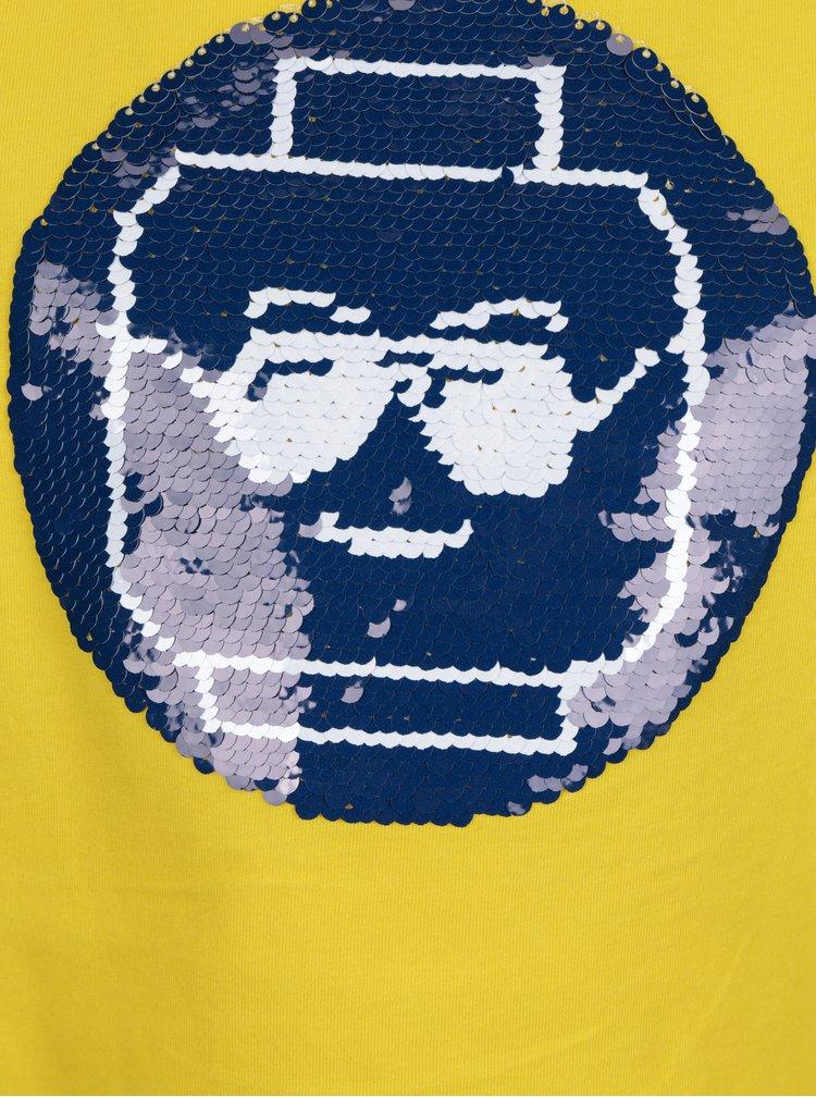 Žluté klučičí tričko s měnícími se flitry Lego Wear Thomas